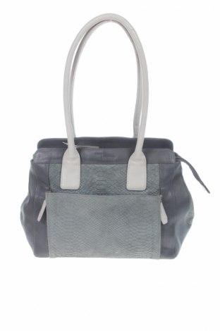 Дамска чанта, Цвят Сив, Естествена кожа, естествен велур, Цена 48,37лв.