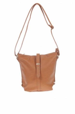 Дамска чанта Lindex, Цвят Кафяв, Еко кожа, Цена 18,59лв.