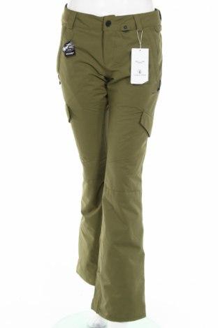 Дамски панталон за зимни спортове Volcom, Размер M, Цвят Зелен, Полиестер, Цена 231,36лв.