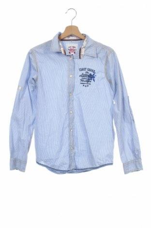 Детска риза Vintage, Размер 12-13y/ 158-164 см, Цвят Син, Памук, Цена 4,75лв.