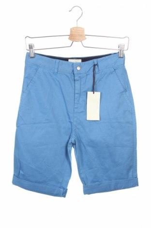 Детски къс панталон Stella Mccartney Kids, Размер 11-12y/ 152-158 см, Цвят Син, 98% памук, 2% еластан, Цена 47,20лв.