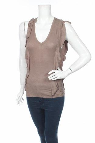 Дамска блуза BCBG Max Azria, Размер XS, Цвят Бежов, 95% вискоза, 5% еластан, Цена 11,55лв.