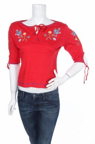 Дамска блуза Derek Heart, Размер M, Цвят Червен, Памук, Цена 7,61лв.