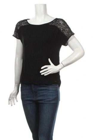 Дамска блуза Marks & Spencer Autograph, Размер S, Цвят Черен, 95% вискоза, 5% еластан, Цена 9,45лв.