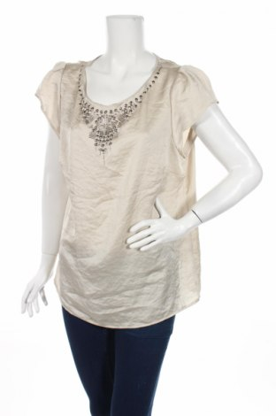 Дамска блуза Marks & Spencer Autograph, Размер XL, Цвят Екрю, Полиестер, Цена 19,95лв.