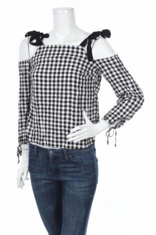Дамска блуза New Look, Размер M, Цвят Черен, Вискоза, Цена 16,07лв.