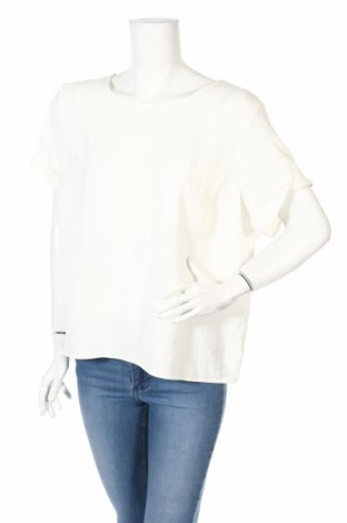 Дамска блуза New Look, Размер XL, Цвят Бял, 96% полиестер, 4% еластан, Цена 24,57лв.
