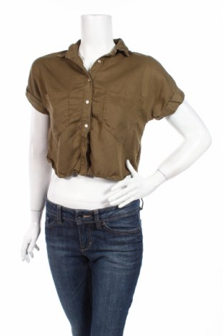 Дамска риза Zara, Размер XS, Цвят Зелен, Цена 6,04лв.