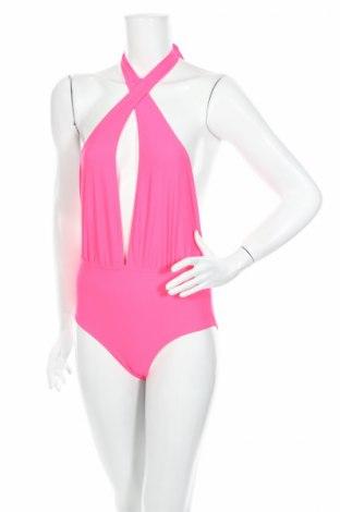 Damski strój kąpielowy Boohoo, Rozmiar XS, Kolor Różowy, 85% poliamid, 15% elastyna, Cena 10,45zł