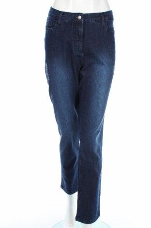 Blugi de femei Bpc Bonprix Collection, Mărime XL, Culoare Albastru, 81% bumbac, 17% poliester, 2% elastan, Preț 54,34 Lei