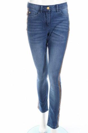 Дамски дънки Bpc Bonprix Collection, Размер S, Цвят Син, 82% памук, 17% полиестер, 1% еластан, Цена 44,80лв.