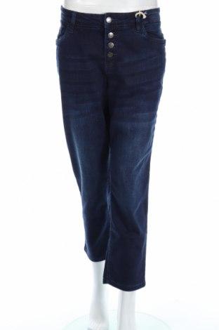 Blugi de femei John Baner, Mărime XL, Culoare Albastru, 95% bumbac, 4% poliester, 1% elastan, Preț 77,63 Lei
