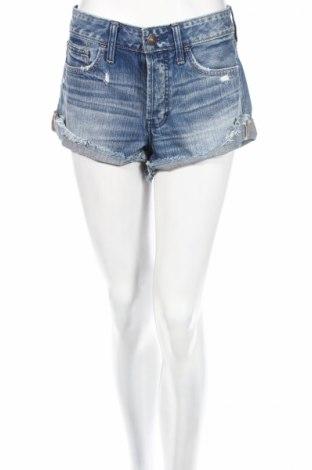 Pantaloni scurți de femei Abercrombie & Fitch, Mărime M, Culoare Albastru, Bumbac, Preț 69,63 Lei