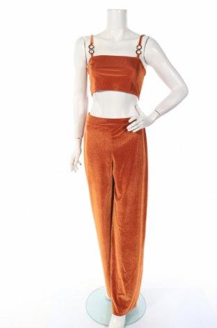 Дамски комплект Boohoo, Размер M, Цвят Оранжев, 95% полиестер, 5% еластан, Цена 20,80лв.