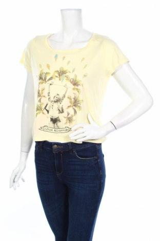 Дамски потник Amy & Ivy, Размер L, Цвят Жълт, 50% памук, 50% модал, Цена 4,46лв.