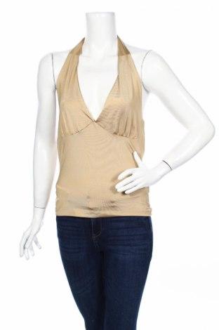 Γυναικείο αμάνικο μπλουζάκι Isabell Kristensen, Μέγεθος L, Χρώμα  Μπέζ, 92% πολυεστέρας, 8% ελαστάνη, Τιμή 2,76€
