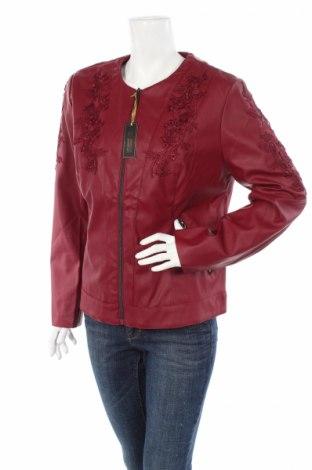 Dámska kožená bunda  Bpc Bonprix Collection, Veľkosť XL, Farba Červená, Eko koža , Cena  31,03€