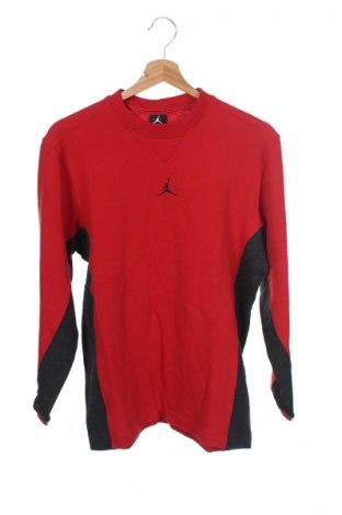 Детска блуза Air Jordan Nike, Размер 11-12y/ 152-158 см, Цвят Червен, 60% памук, 40% полиестер, Цена 26,95лв.