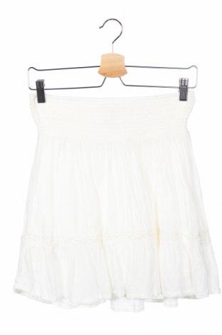 Детска пола H&M L.o.g.g, Размер 15-18y/ 170-176 см, Цвят Бял, Вискоза, Цена 5,78лв.