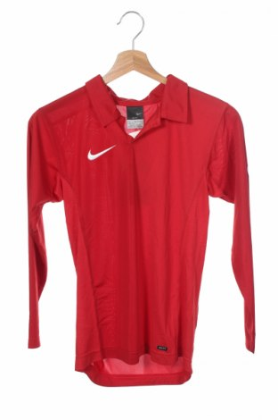 Bluză sport de copii Nike, Mărime 8-9y/ 134-140 cm, Culoare Roșu, Poliester, Preț 74,79 Lei