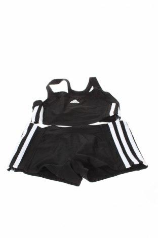 Детски бански Adidas, Размер 9-10y/ 140-146 см, Цвят Черен, Полиестер, Цена 40,12лв.