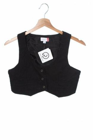 Детски елек Nkd, Размер 13-14y/ 164-168 см, Цвят Черен, 100% памук, Цена 4,00лв.