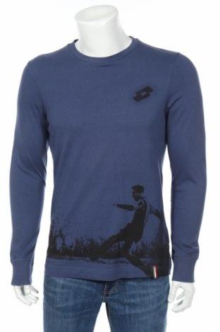 Мъжка блуза Lotto, Размер L, Цвят Син, Памук, Цена 24,70лв.