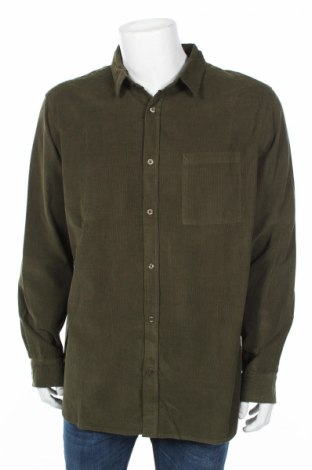 Мъжка риза Bpc Bonprix Collection, Размер XL, Цвят Зелен, Памук, Цена 30,80лв.