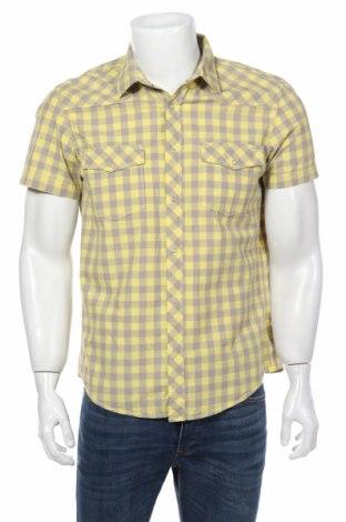 Мъжка риза H&M L.o.g.g, Размер M, Цвят Жълт, Памук, Цена 4,73лв.