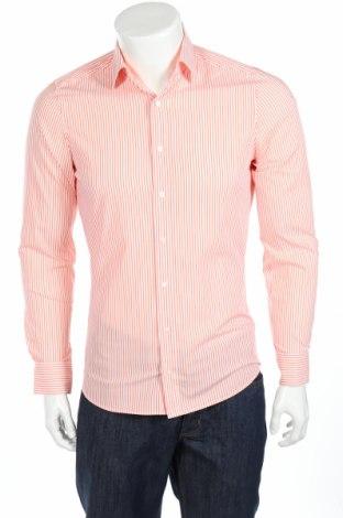 Мъжка риза Olymp, Размер M, Цвят Оранжев, 97% памук, 3% еластан, Цена 7,48лв.