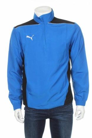 Bluză trening de bărbați PUMA, Mărime S, Culoare Albastru, 100% poliester, Preț 86,32 Lei