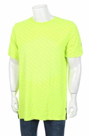 Pánske tričko  ASICS, Veľkosť XL, Farba Žltá, 54% polyester, 46% polyamide, Cena  12,27€