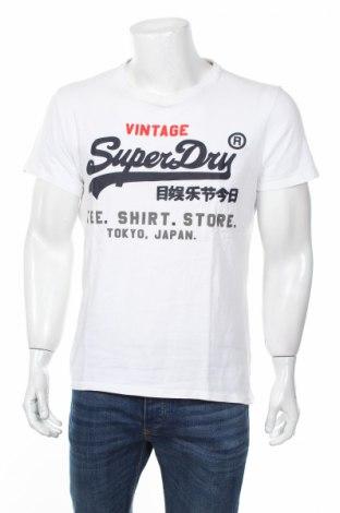 Tricou de bărbați Superdry, Mărime L, Culoare Alb, 100% bumbac, Preț 119,70 Lei