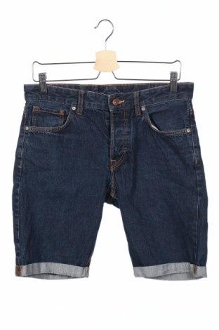 Мъжки къс панталон H&M, Размер S, Цвят Син, Памук, Цена 16,96лв.
