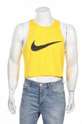 Maiou bărbătesc Nike, Mărime S, Culoare Galben, Poliester, Preț 58,03 Lei