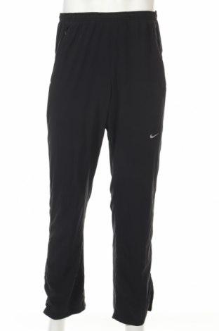 Мъжко спортно долнище Nike, Размер M, Цвят Черен, 86% полиестер, 14% еластан, Цена 20,48лв.