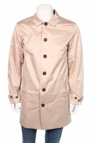 Мъжко палто Rainbow, Размер XXL, Цвят Бежов, 64% памук, 28% полиестер, 8% полиамид, Цена 48,72лв.