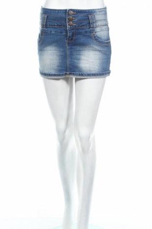 Φούστα Blind Date, Μέγεθος XS, Χρώμα Μπλέ, 98% βαμβάκι, 2% ελαστάνη, Τιμή 3,38€