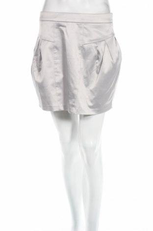 Пола Gina Tricot, Размер M, Цвят Сив, 50% памук, 47% полиестер, 3% еластан, Цена 4,82лв.