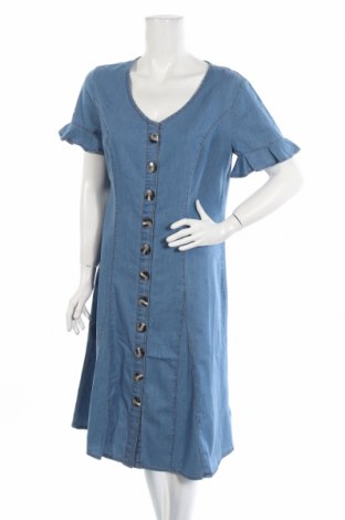 Φόρεμα John Baner, Μέγεθος L, Χρώμα Μπλέ, Βαμβάκι, Τιμή 28,50€