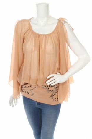 Γυναικεία μπλούζα Denny Rose, Μέγεθος XS, Χρώμα  Μπέζ, Πολυεστέρας, Τιμή 4,54€