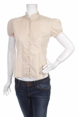 Дамска риза Antilia Femme, Размер S, Цвят Бежов, 70% памук, 25% полиамид, 5% еластан, Цена 3,00лв.