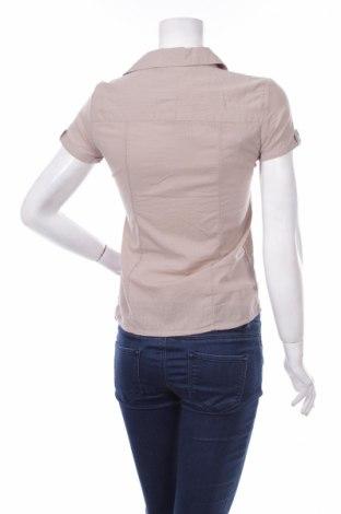 Γυναικείο πουκάμισο, Μέγεθος S, Χρώμα  Μπέζ, 97% βαμβάκι, 3% ελαστάνη, Τιμή 16,49€