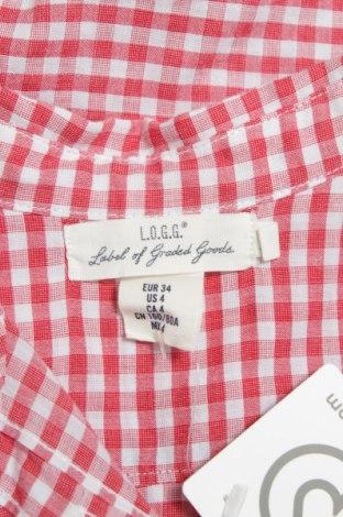 Γυναικείο πουκάμισο H&M L.o.g.g, Μέγεθος XS, Χρώμα Κόκκινο, Τιμή 10,82€