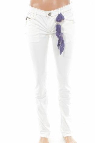 Γυναικείο παντελόνι Bandits Du Monde, Μέγεθος XS, Χρώμα Εκρού, 97% βαμβάκι, 3% ελαστάνη, Τιμή 16,50€
