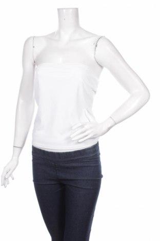 Tricou de damă Promod, Mărime L, Culoare Alb, 93% poliamidă, 7% elastan, Preț 5,26 Lei