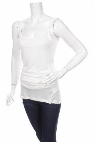 Γυναικείο αμάνικο μπλουζάκι Springfield, Μέγεθος L, Χρώμα Λευκό, 100% βισκόζη, Τιμή 2,95€