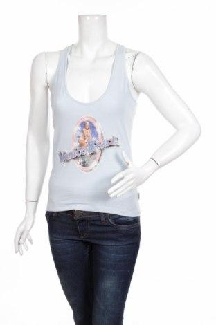 Γυναικείο αμάνικο μπλουζάκι Time Out, Μέγεθος M, Χρώμα Μπλέ, 95% βαμβάκι, 5% ελαστάνη, Τιμή 9,56€