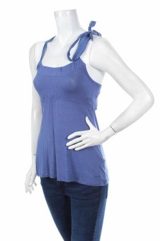 Γυναικείο αμάνικο μπλουζάκι Time Out, Μέγεθος XS, Χρώμα Μπλέ, 95% βισκόζη, 5% ελαστάνη, Τιμή 9,56€