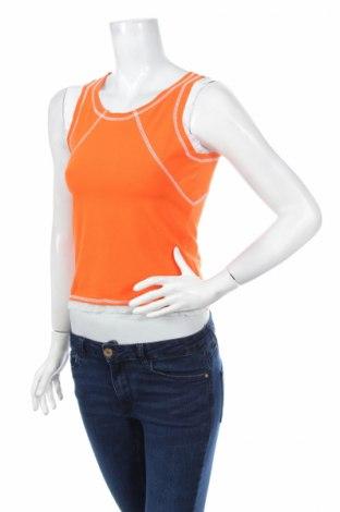 Γυναικείο αμάνικο μπλουζάκι Time Out, Μέγεθος S, Χρώμα Πορτοκαλί, 95% βαμβάκι, 5% ελαστάνη, Τιμή 9,56€